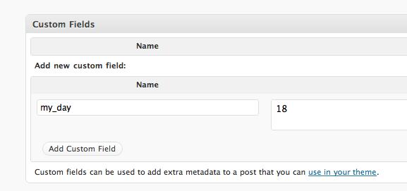 пользовательские произвольные поля WordPress и построение запросов и сортировки