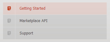 CodeCanyon support menu