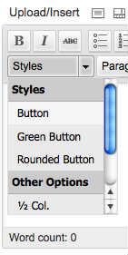 Создание пользовательских стилей в выпадающем меню TinyMCE