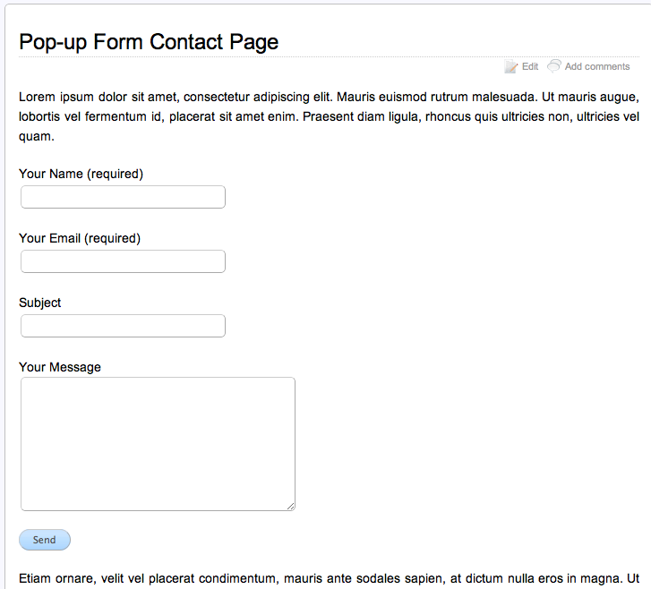 wordpress form insert