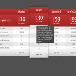 Адаптивный плагин для цен бордовый WordPress купить
