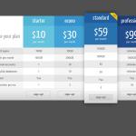 Адаптивный плагин для цен синий WordPress