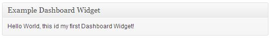 create widget example