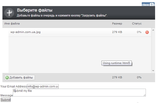 upload file user area wordpress