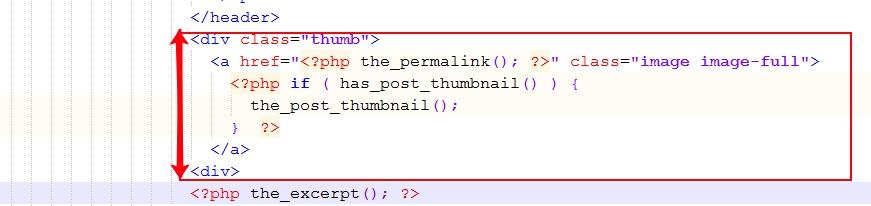 вставляем код миниатюры записи в шаблон