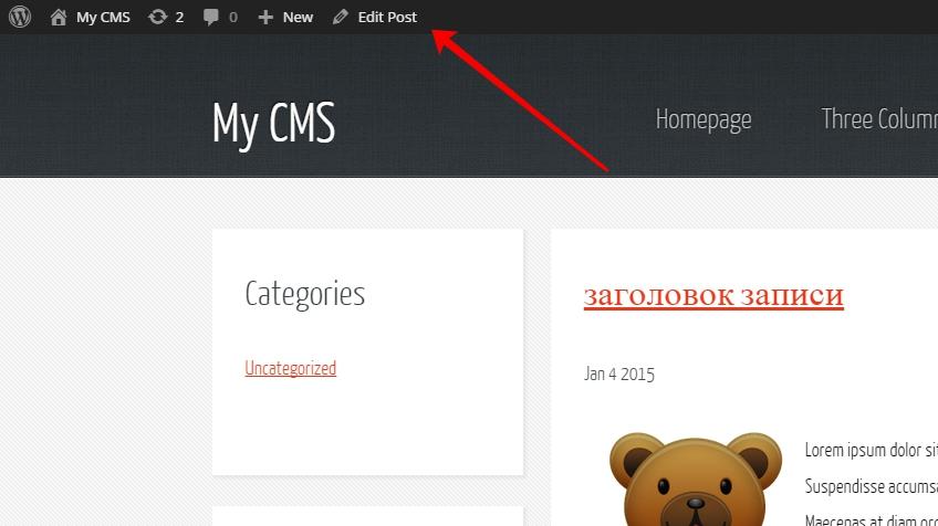 включить admin bar в шаблоне wordpress