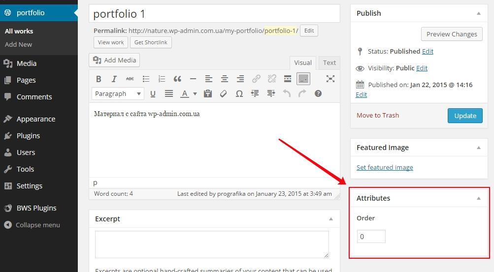 wordpress custom post atribut