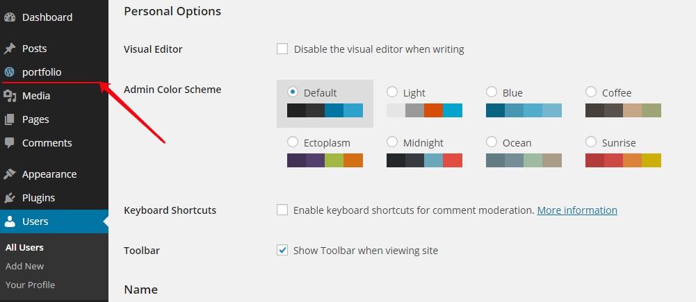 wordpress post type menu position