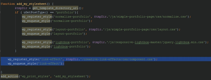 add class link wordpress
