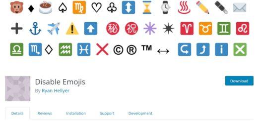 disable wordpress emoji plugin