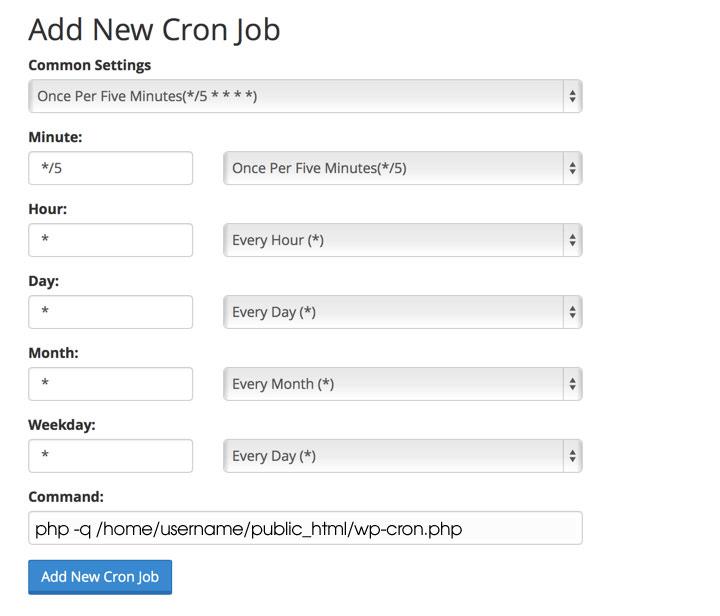 Замена работы CRON WordPress на серверный CRON для ускорения сайта
